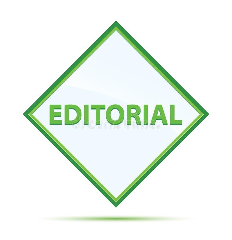 Bottone verde astratto moderno editoriale del diamante illustrazione vettoriale