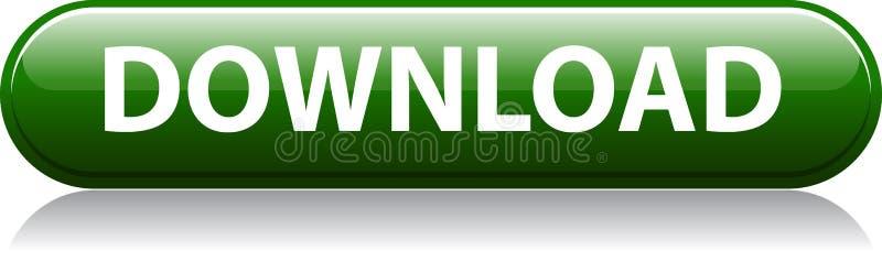 Bottone verde di download illustrazione di stock