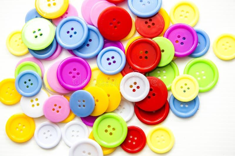 Bottoni assortiti luminosi, illustrazione di stock