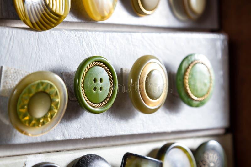 Bottoni d'annata fotografia stock libera da diritti