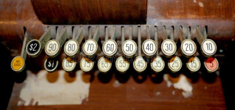 Bottoni d'annata della macchina da scrivere fotografie stock libere da diritti