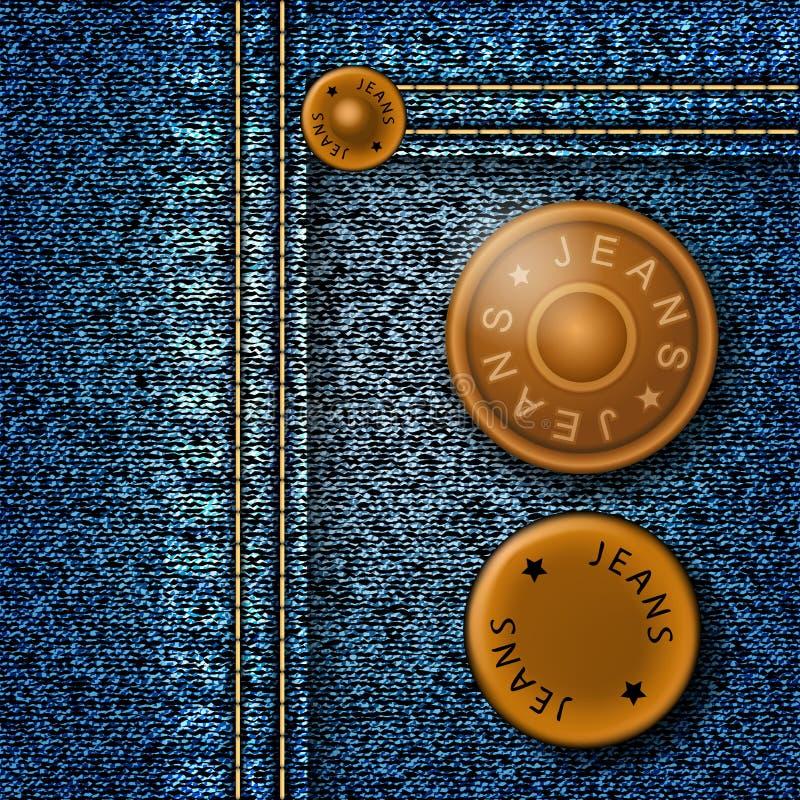 Bottoni dei jeans illustrazione vettoriale