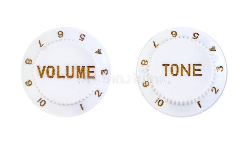 Bottoni del controllo del volume e di tono fotografia stock