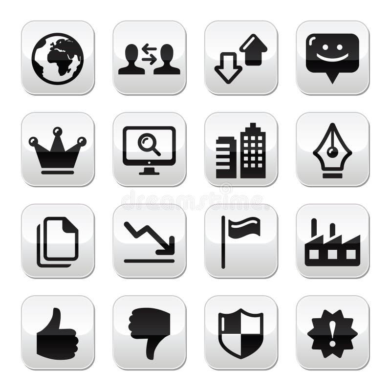 Bottoni del Internet di Web impostati - vettore illustrazione di stock