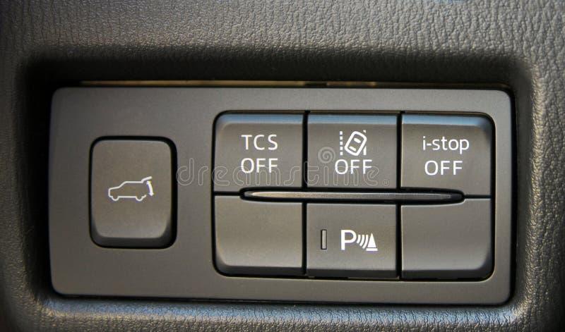 Bottoni del pannello dell'automobile fotografia stock libera da diritti