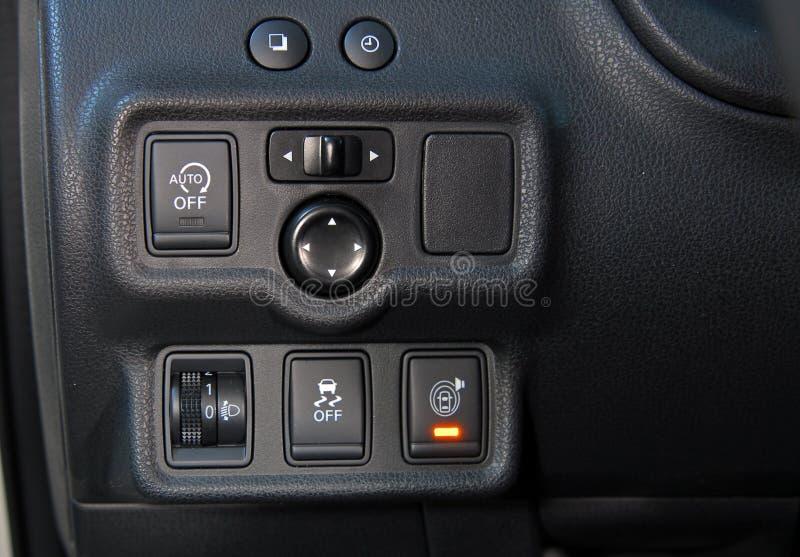 Bottoni del pannello dell'automobile fotografia stock