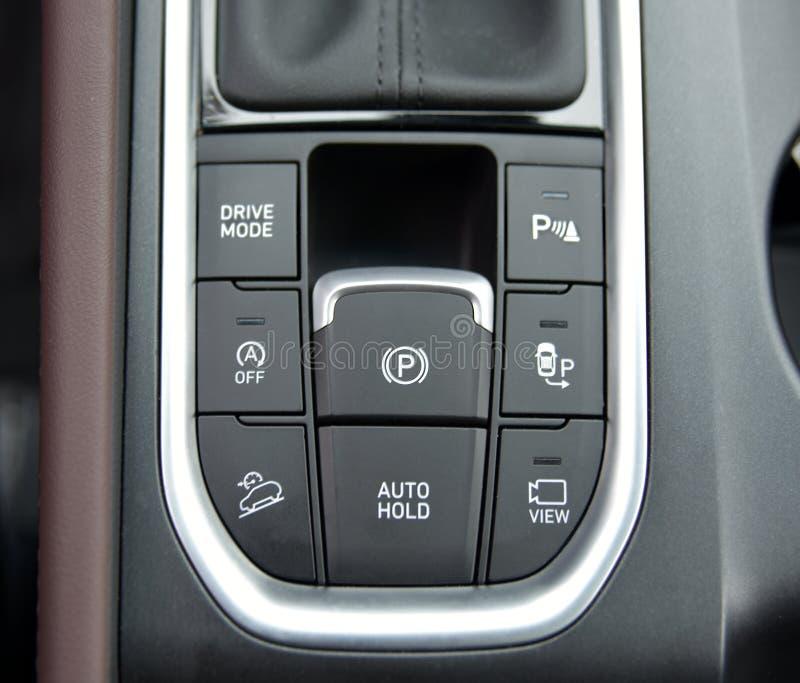 Bottoni del pannello dell'automobile fotografie stock