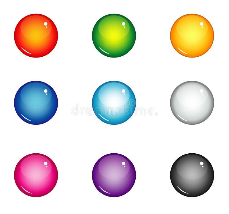 Bottoni dell'interfaccia delle palle illustrazione di stock
