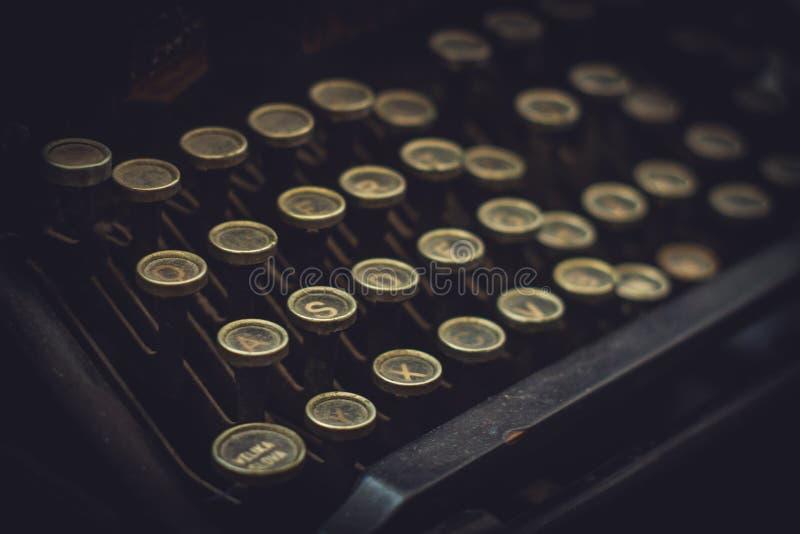 Bottoni della macchina da scrivere immagine stock