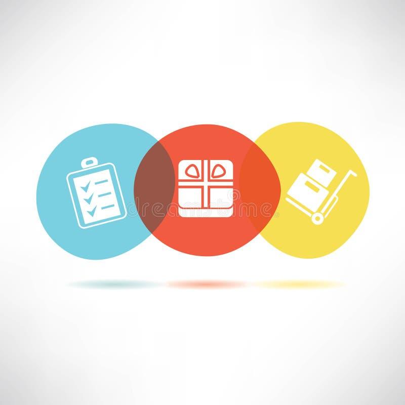 Bottoni di commercio elettronico illustrazione vettoriale