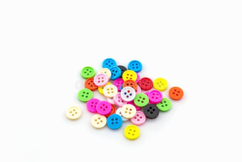 Bottoni di cucito dell'annata variopinta decorativa fotografia stock libera da diritti