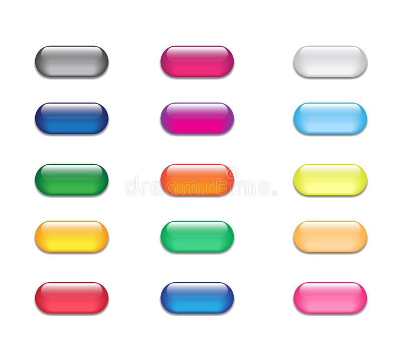 Bottoni di vetro di web illustrazione vettoriale