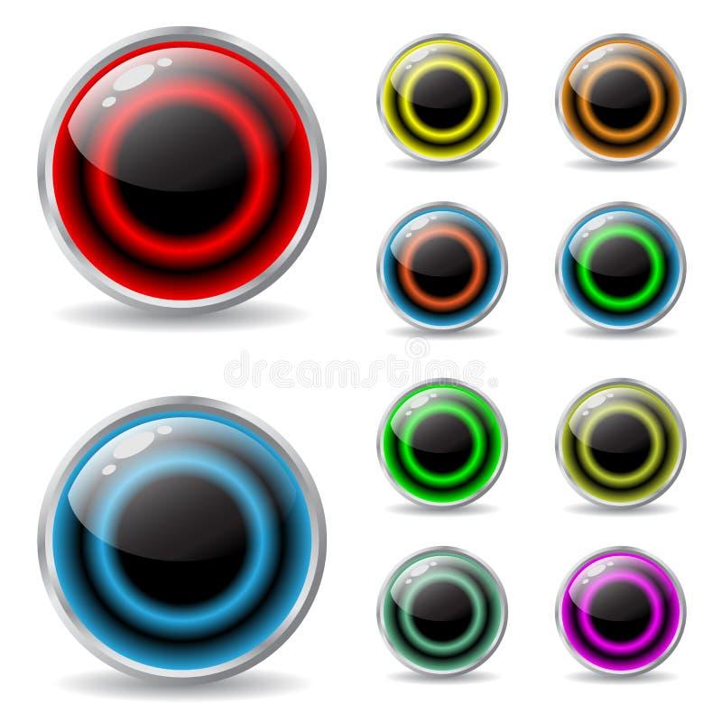 Bottoni di web con i colori freddi illustrazione vettoriale