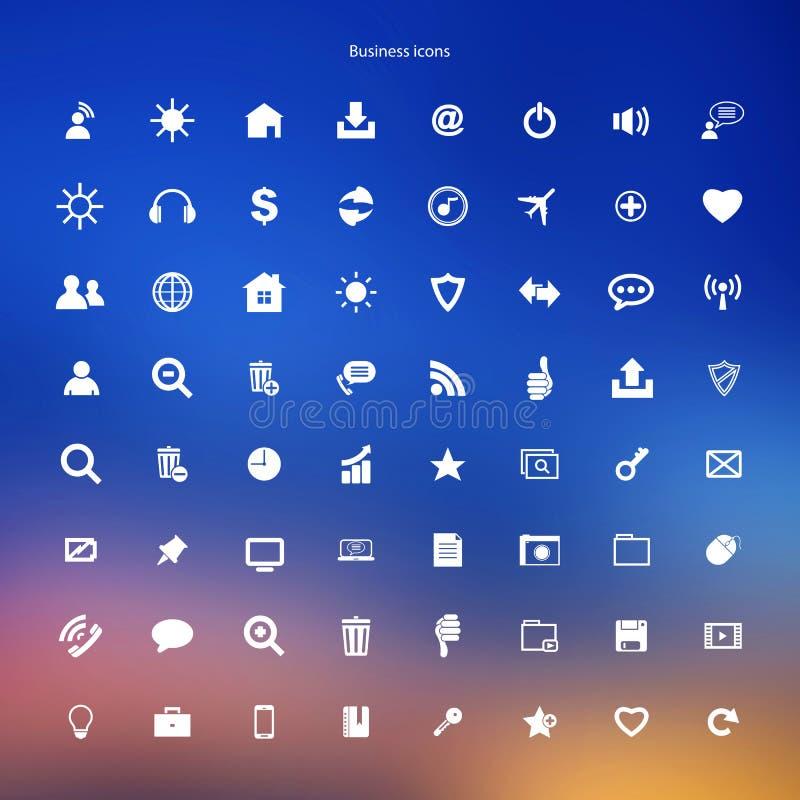 Bottoni di web di Internet delle icone di affari messi illustrazione di stock
