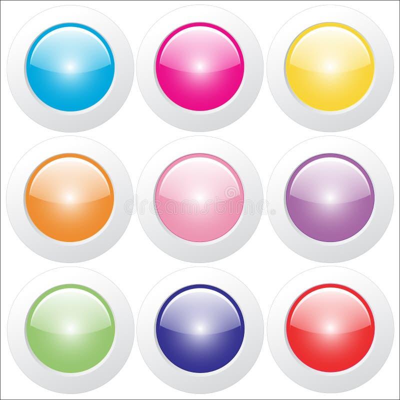 Bottoni di web - lucidi immagini stock libere da diritti