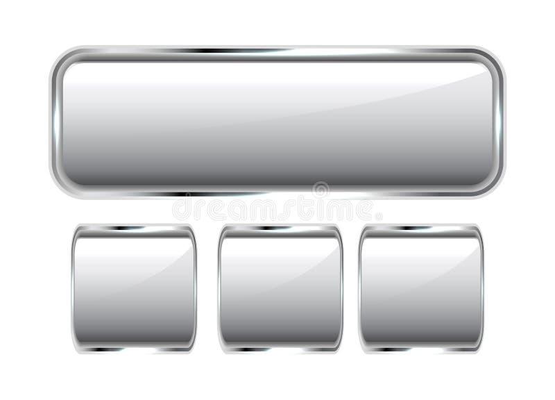 Bottoni lucidi del metallo illustrazione di stock