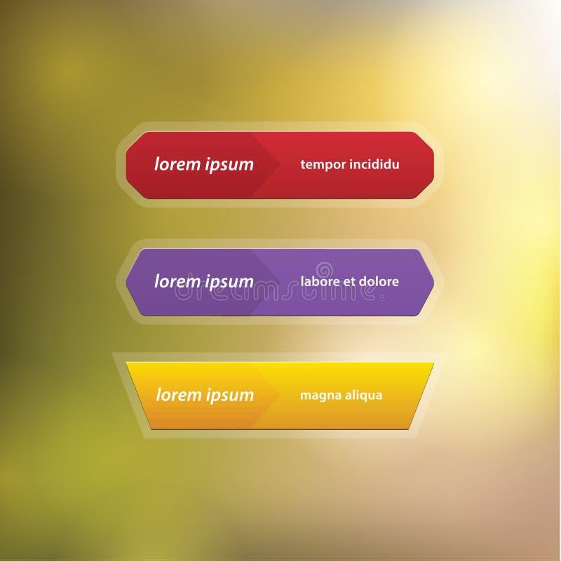 Download Bottoni Lunghi Vuoti. Bottoni Di Progettazione Moderna Di Vettore Con Spazio Per Illustrazione Vettoriale - Illustrazione di smussatura, grafici: 30831618