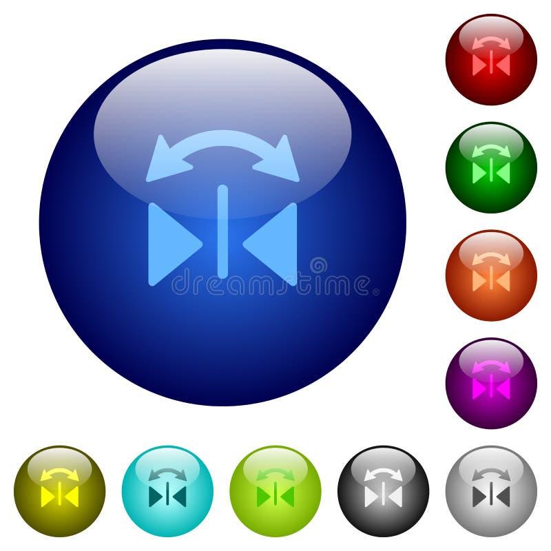 Bottoni orizzontali di vetro di vibrazione di colore royalty illustrazione gratis