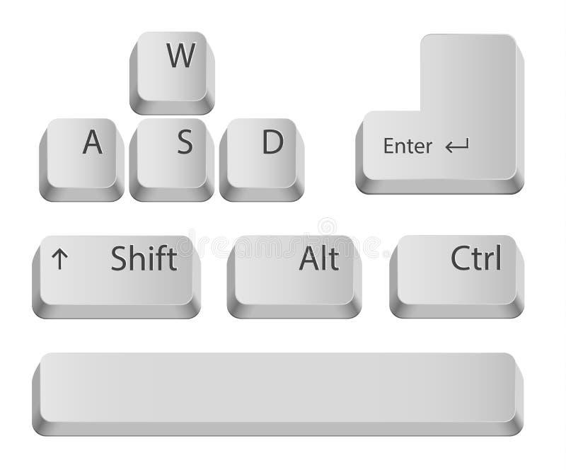 Bottoni principali della tastiera. illustrazione di stock