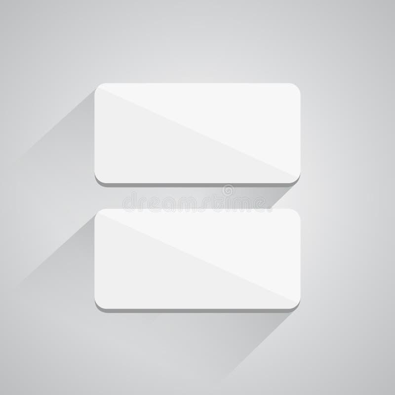 Bottoni quadrati su fondo bianco illustrazione di stock