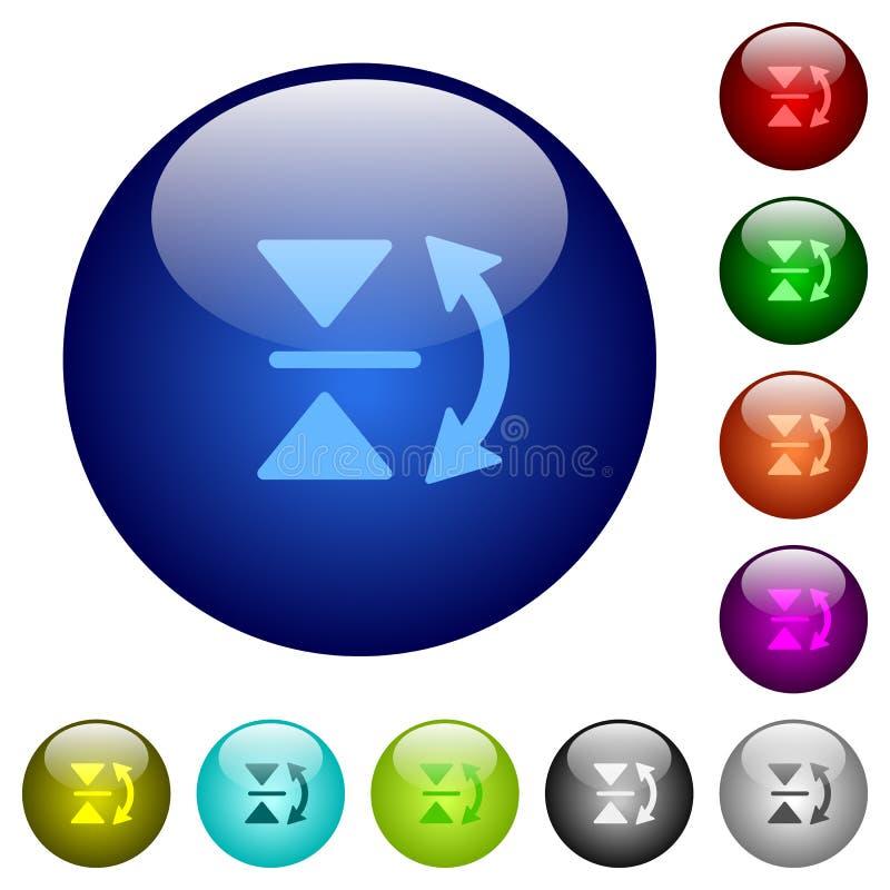 Bottoni verticali di vetro di vibrazione di colore illustrazione vettoriale