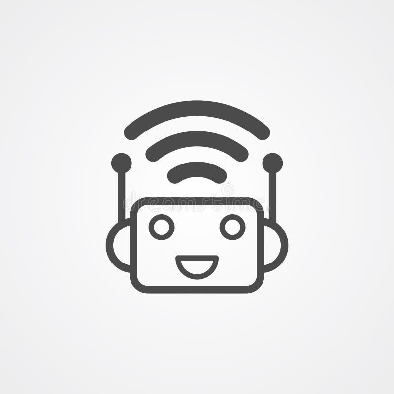 Botvektorikonen-Zeichensymbol lizenzfreie abbildung
