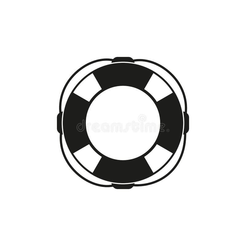 Bouée de sauvetage d'icône illustration stock