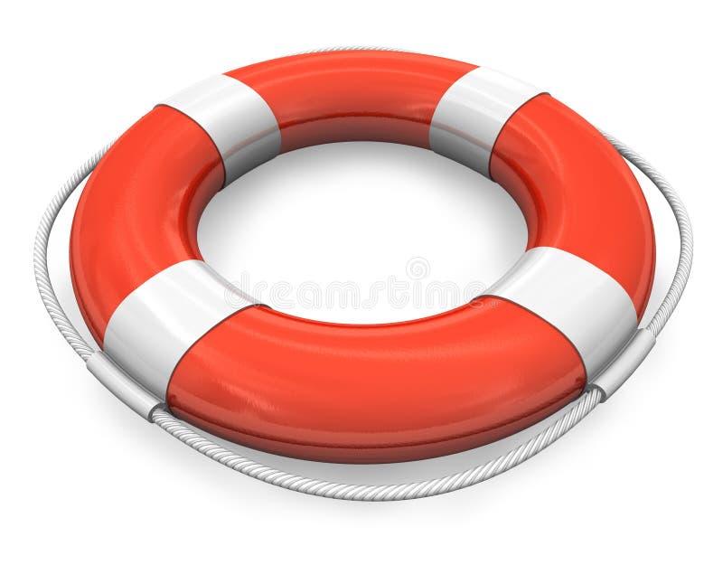 Bouée de sauvetage rouge illustration stock