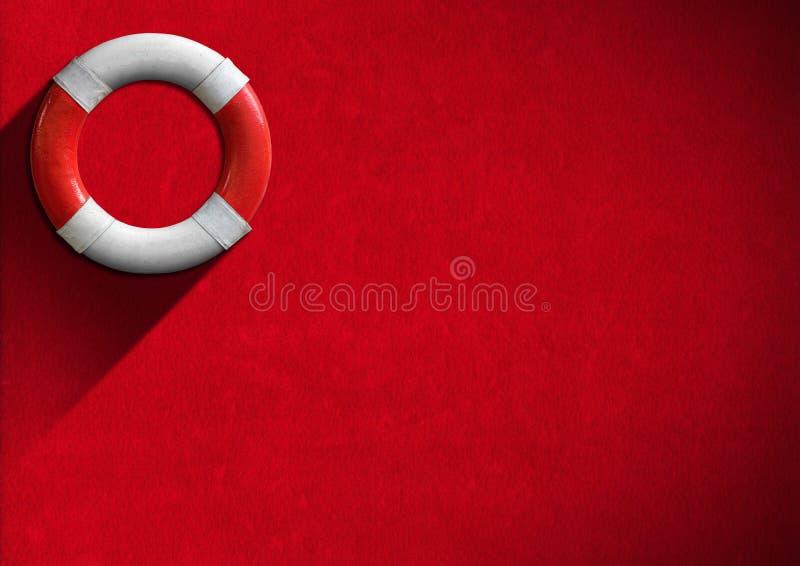 Bouée de sauvetage rouge et blanche de concept d'aide - photo libre de droits
