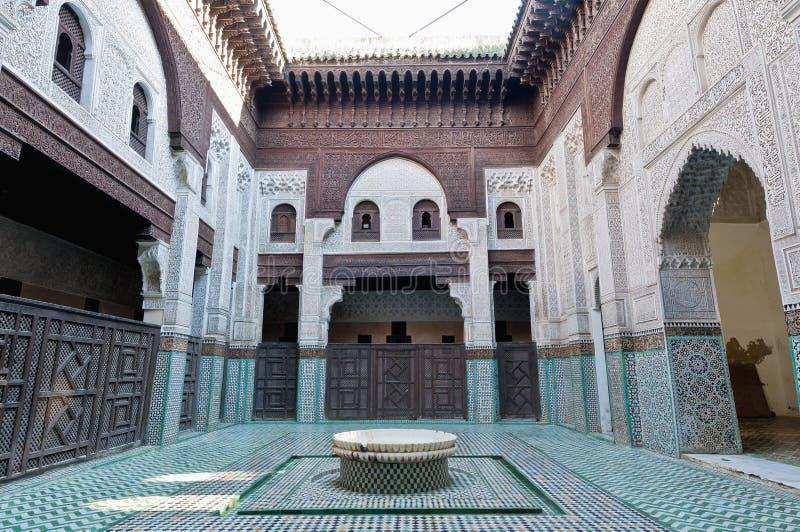bou inania madrasa meknes摩洛哥 库存照片