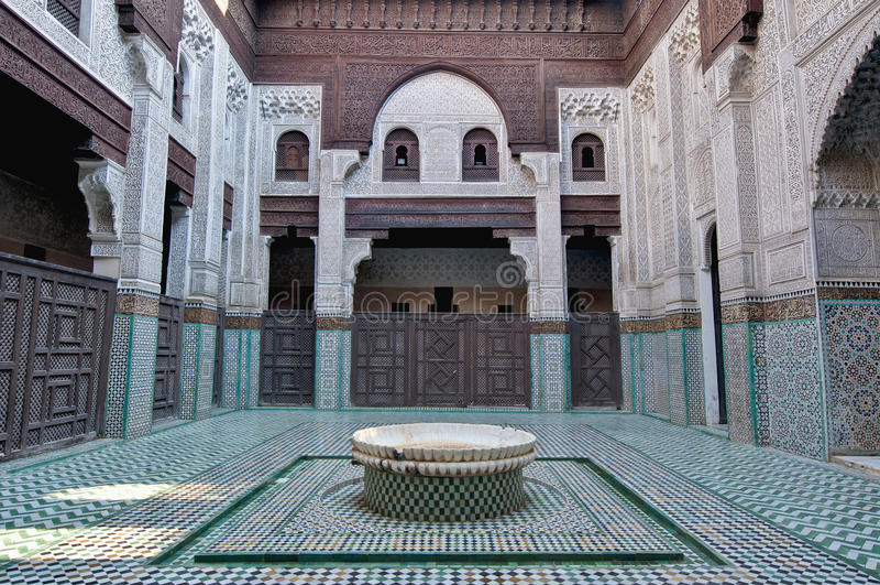 bou inania madrasa meknes摩洛哥 免版税库存图片