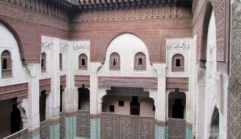 Bou Inania Medrese, Meknes, Marrocos imagem de stock
