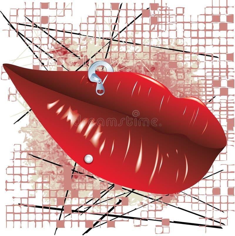 Bouche avec la perforation illustration libre de droits