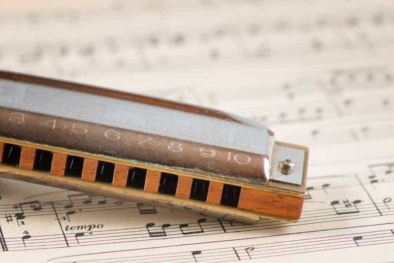 Bouche d'harmonica de bleus photo libre de droits