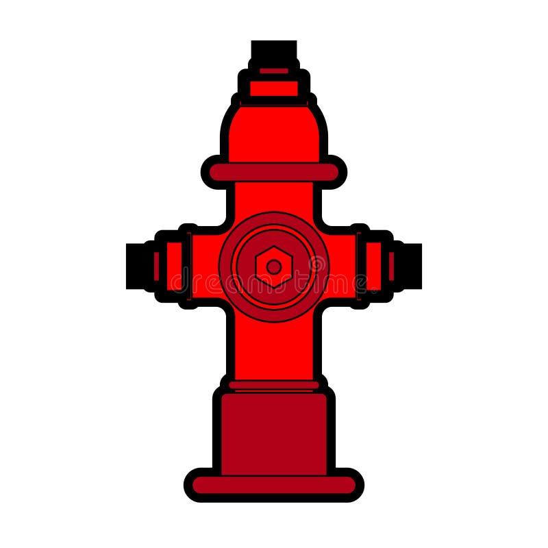 Bouche d'incendie d'isolement Illustration rouge de vecteur de puissance de feu illustration libre de droits