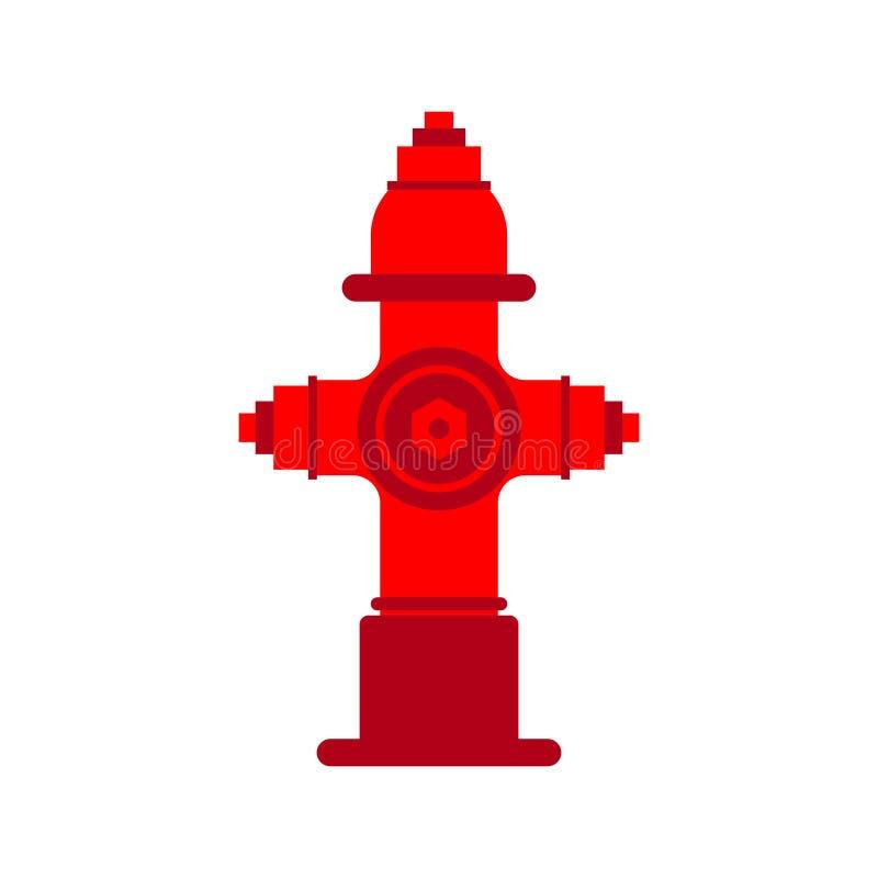Bouche d'incendie d'isolement Illustration rouge de vecteur de puissance de feu illustration stock