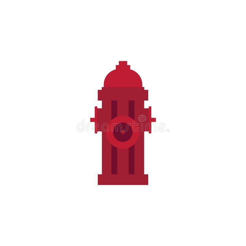 Bouche d'incendie rouge en métal - dehors équipement pour s'éteindre avec de l'eau d'isolement sur le fond blanc illustration stock