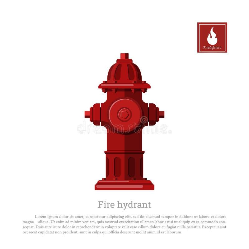 Bouche d'incendie sur le fond blanc Équipement de sapeur-pompier dans le style réaliste illustration de vecteur