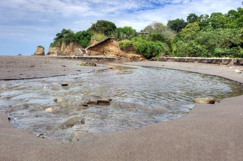 Bouche d'un petit fleuve dans l'Ecuadorian photo libre de droits