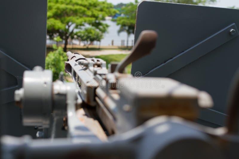 Bouche de canon des vieilles armes de navires de guerre images libres de droits