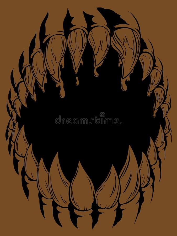 Bouche de monstre illustration stock