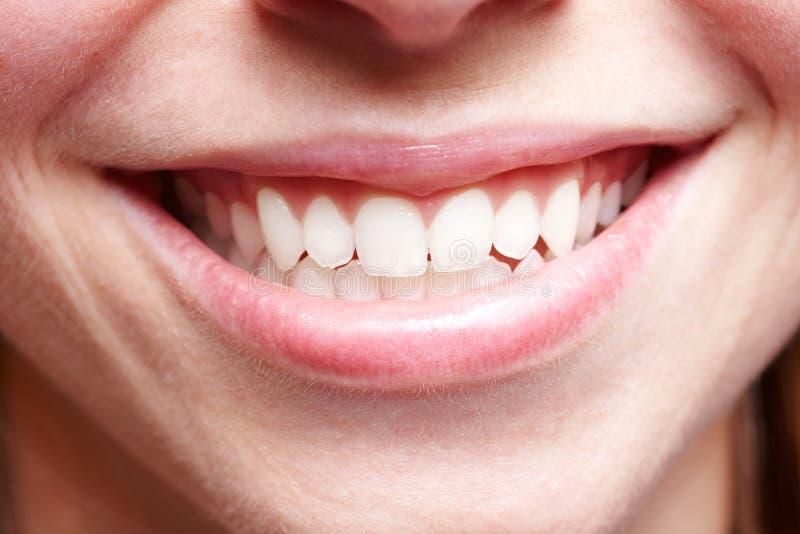 Bouche de sourire image stock