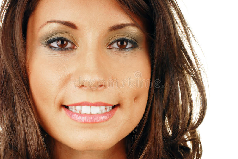Bouche de sourire attrayante de femme photographie stock libre de droits