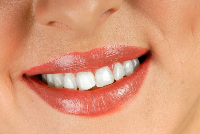 Bouche de sourire de femme photo libre de droits