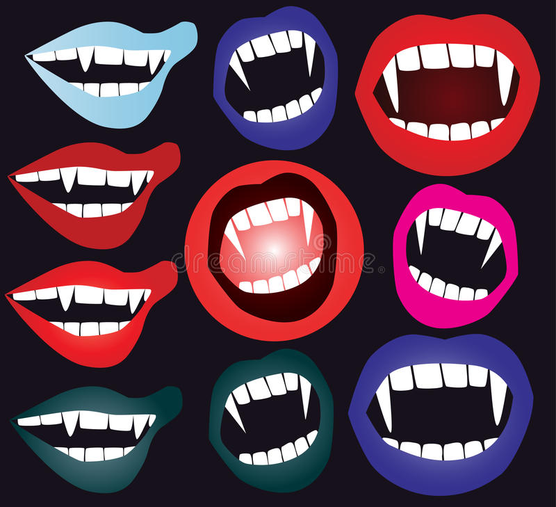 Bouche de vampire illustration stock