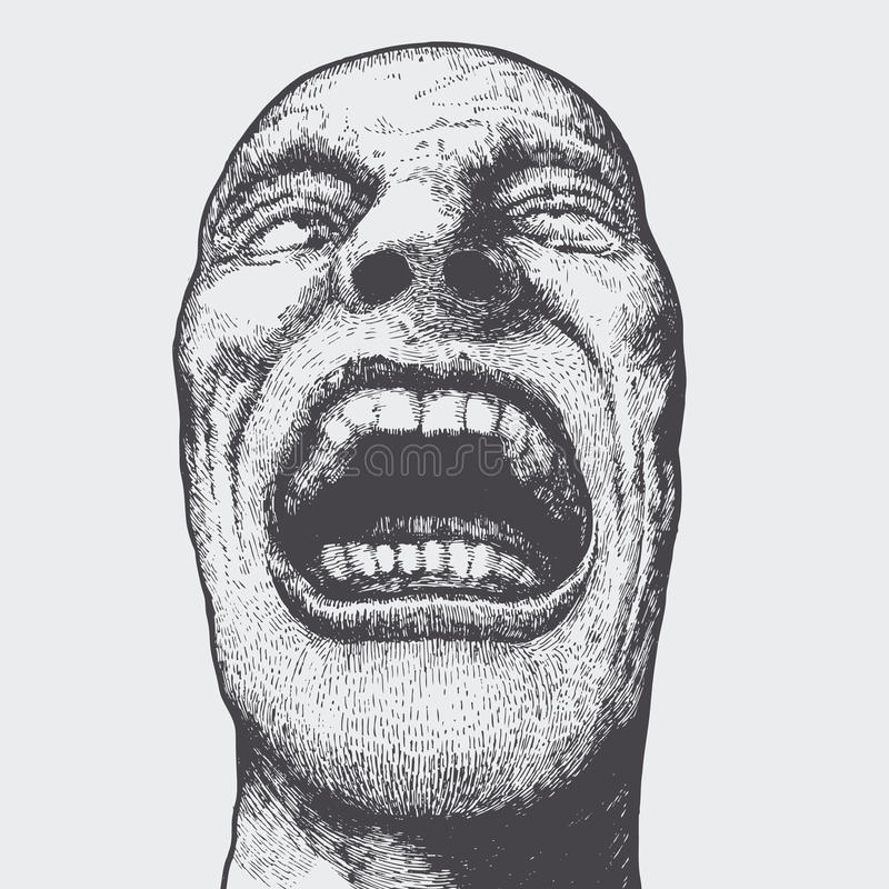 Bouche mâle voyante illustration libre de droits