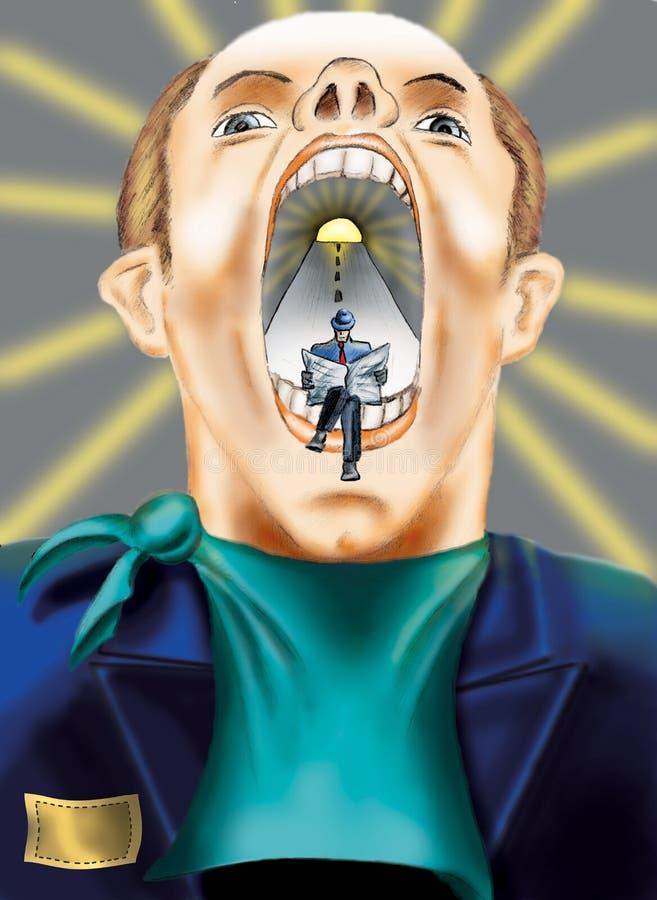 Bouche surréaliste illustration libre de droits