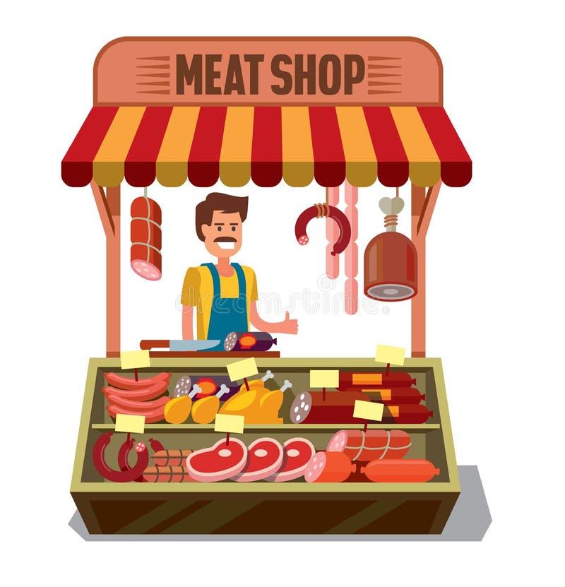 Boucher Shop de vecteur illustration libre de droits