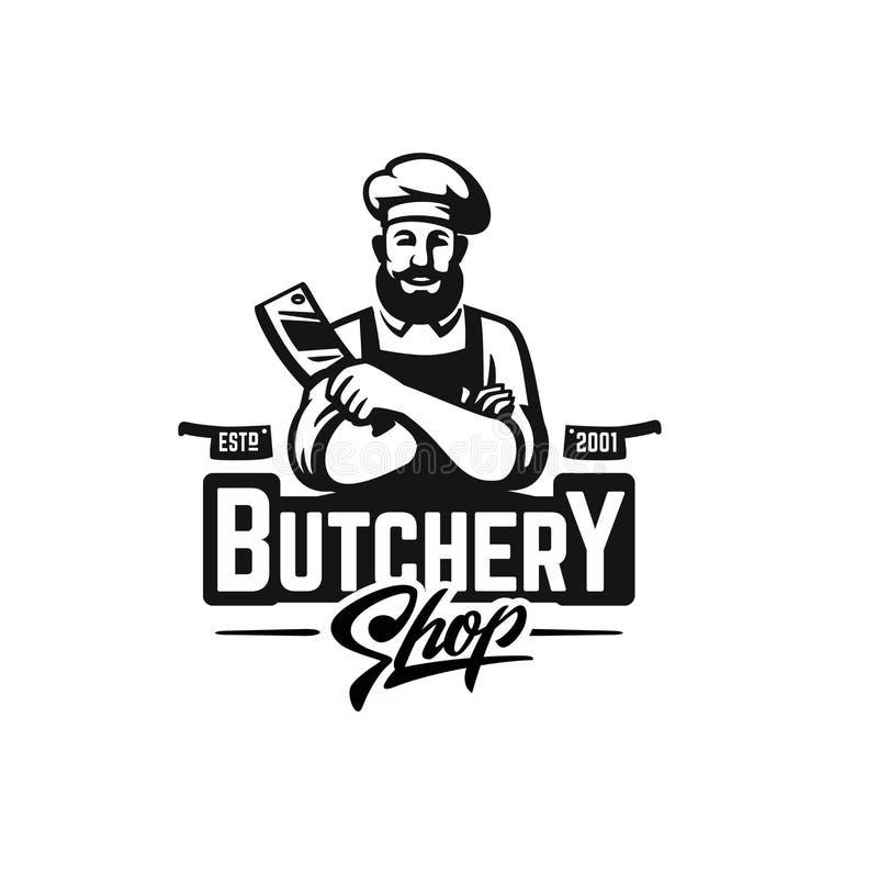 Boucher Shop Logo illustration libre de droits