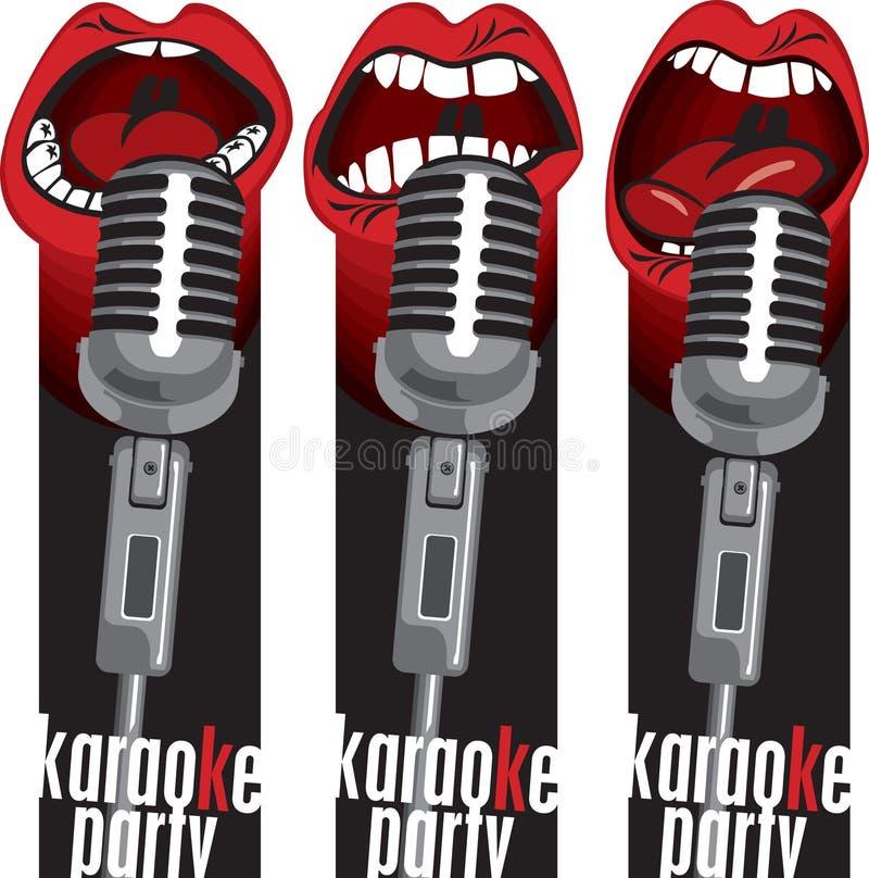Bouches de microphone illustration libre de droits